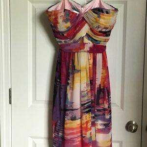 Donna Morgan strapless dress VGUC